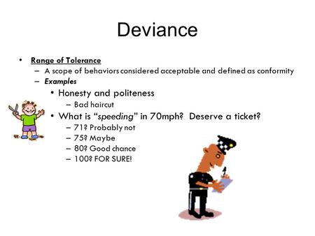 Deviance Honesty and politeness