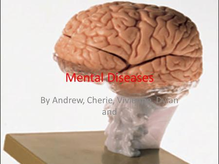 Mental Diseases By Andrew, Cherie, Vivienne, Dylan and.
