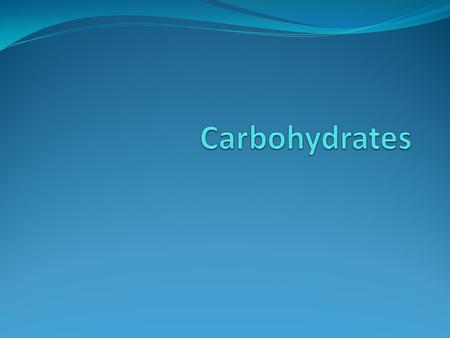The Chemist's View of Carbohydrates Carbohydrates are made of carbon, hydrogen and oxygen atoms. These atoms form chemical bonds that follow the laws.