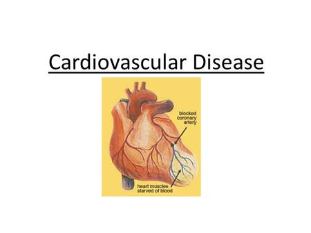 Cardiovascular Disease. Atherosclerosis Atherosclerosis means 'hardening of the arteries'. Caused by a build up of yellow fatty deposits called 'plaques'.