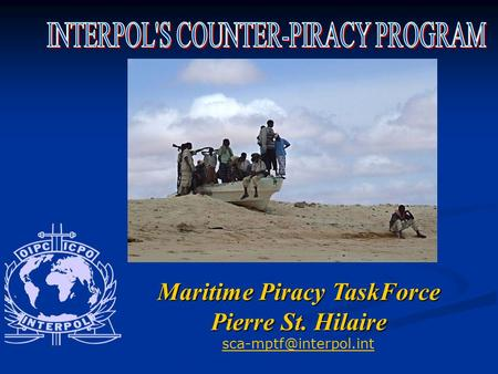 Maritime Piracy TaskForce Pierre St. Hilaire