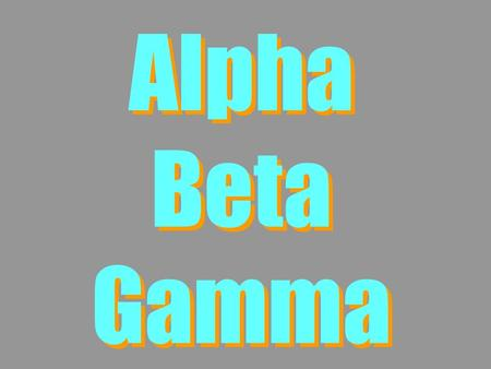Alpha Beta Gamma. Lesson Contents 1.What is Radioactivity? 2.Physical properties of ,  and  3.Penetrating power of ,  and  4.N v Z  graphs.