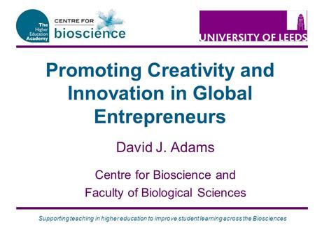 Promoting Creativity and Innovation in Global Entrepreneurs