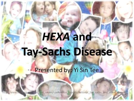 Tay-Sachs Disease HEXA and Tay-Sachs Disease Presented by: Yi Sin Tee
