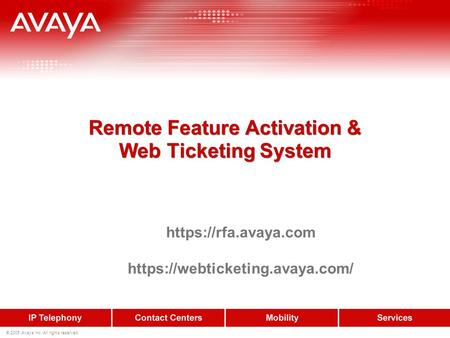 Remote Feature Activation & Web Ticketing System