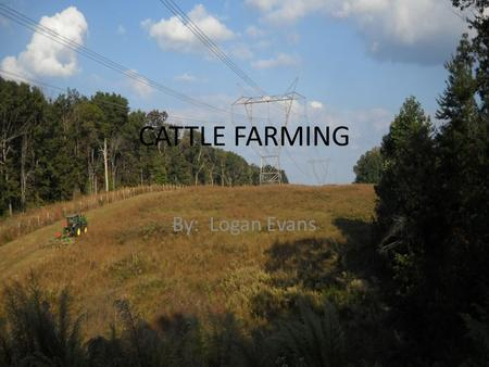 "CATTLE FARMING By: Logan Evans. Introduction Farming goes back to ancient times where people's everyday question was, ""What are we going to eat today?""."