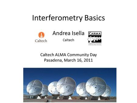 Interferometry Basics