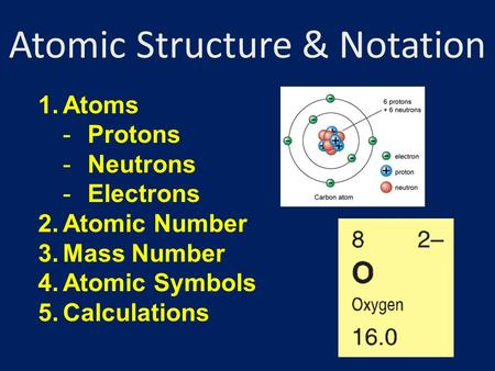 Atomic Structure & Notation