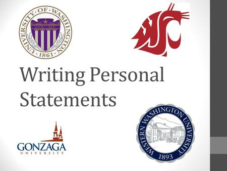 Writing Personal Statements. What is a personal statement? Varies from college to college Usually changes every few years Essay or series of short responses.