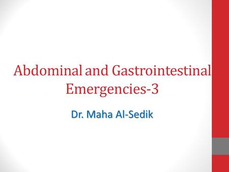 Abdominal and Gastrointestinal Emergencies-3
