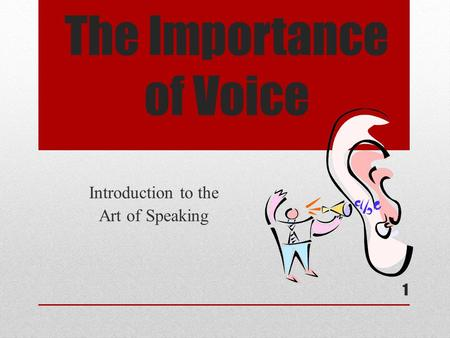 an introduction to the importance of speaking We have provided simple and easy speech on importance of education for the students you can select any of the importance of education speech given below according to your need and requirement.