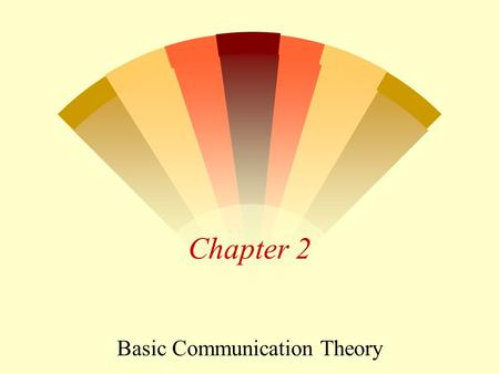 Chapter 2 Basic Communication Theory Basic Communications Theory w Understand the basic transmission theory, and figure out the maximum data rate. w.