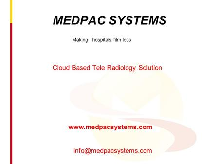 Cloud Based Tele Radiology Solution