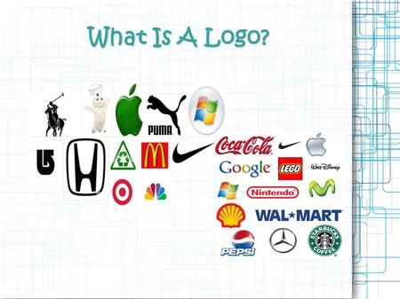 What Is A Logo?.  Logos are used to identify  The logo is one aspect of a company's commercial brand, and its shapes, colors, fonts, and images usually.