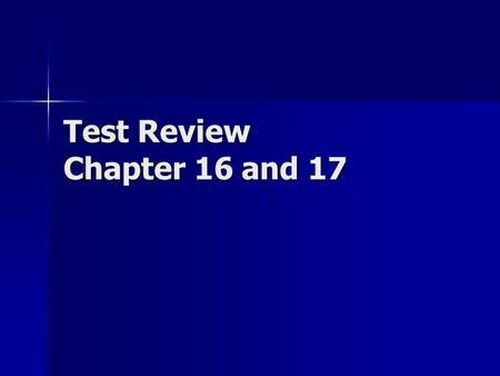 Test Review Chapter 16 and 17. Major Concepts - Circuits -Parallel vs Series -How to determine current, voltage, resistance and the definition of each.