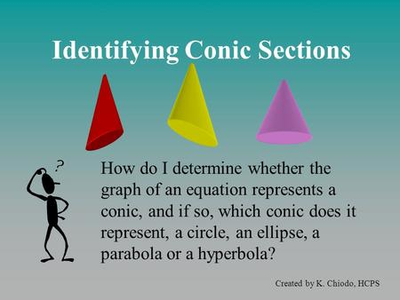 Identifying Conic Sections