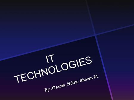 IT TECHNOLOGIES By :Garcia, Nikko Shawn M.. Mobile Phone Cloning How is it Done ?