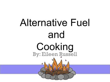 Alternative Fuel and Cooking By: Eileen Russell. Introduction Alternative fuel options a MUST! Small investment Small Storage Needs Check with your local.