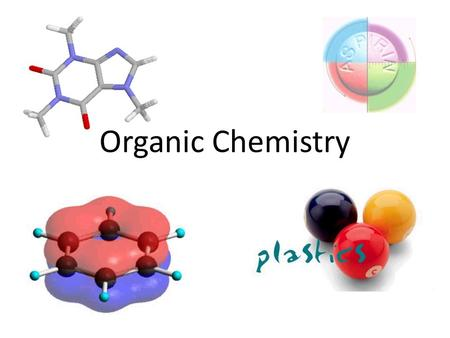Organic Chemistry. Organic Chemistry: The chemistry of carbon and carbon-based compounds Organic Chemistry in everyday life: Smells & tastes: fruits,