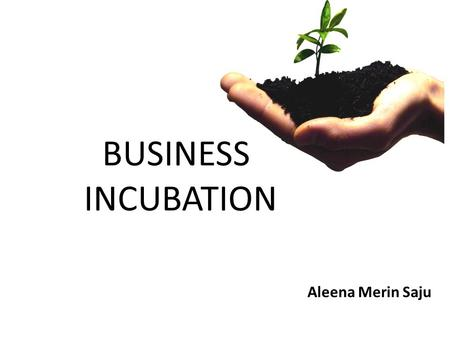 BUSINESS INCUBATION Aleena Merin Saju. What is Business incubation? Business incubators are programs designed to support the successful development of.