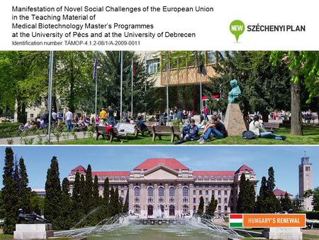 Manifestation of Novel Social Challenges of the European Union in the Teaching Material of Medical Biotechnology Master's Programmes at the University.