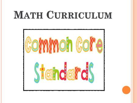 Math Curriculum.