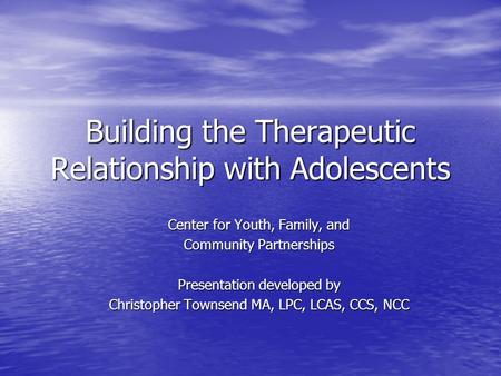 use of self therapeutic relationship definition