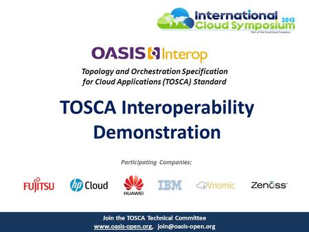 TOSCA Interoperability Demonstration