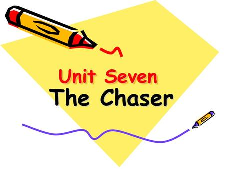 Unit Seven The Chaser. Teaching Objectives Pre-reading Questions Global Reading Detailed Reading Post-reading practice.
