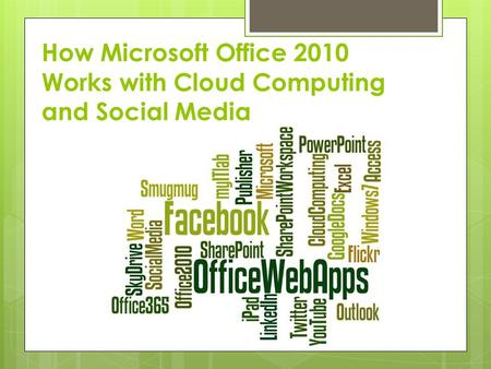 How Microsoft Office 2010 Works with Cloud Computing and Social Media.