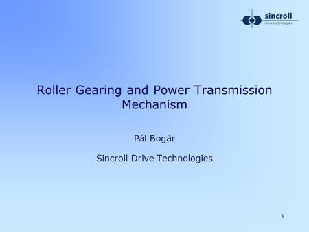 Roller Gearing and Power Transmission Mechanism