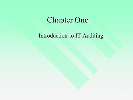 Introduction to IT Auditing