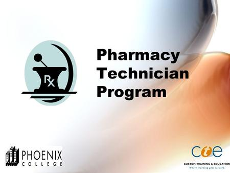 Pharmacy Technician Program. What is a Pharmacy Technician? A pharmacy technician is a person who works under the direct supervision of a licensed pharmacist.