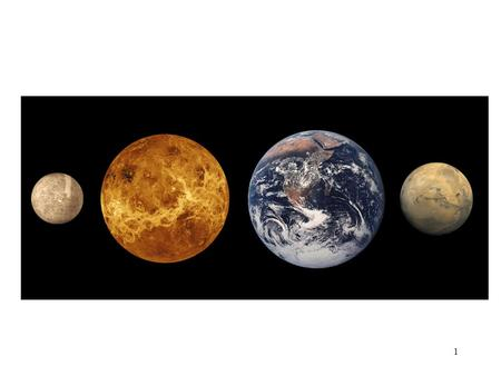 1. 2 Inner or Terrestrial Planets All the inner planets formed at the same time. Their composition is also very similar. They lack the huge atmospheres.