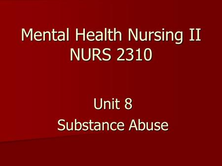 a description of addictions and mental illnesses as the primary parts of abnormal psychology Mental health problem symptoms, causes and effects changes in brain chemistry from substance abuse or changes in diet understanding mental illness in its.
