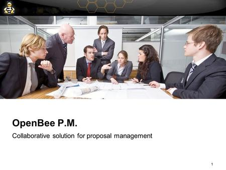 1 OpenBee P.M. Collaborative solution for proposal management 1.