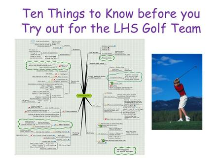 Ten Things to Know before you Try out for the LHS Golf Team.