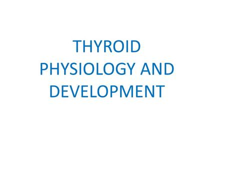 THYROID PHYSIOLOGY AND DEVELOPMENT. Thyrotropin-releasing hormone (TRH), a tripeptide synthesized in the hypothalamus, stimulates the release of pituitary.