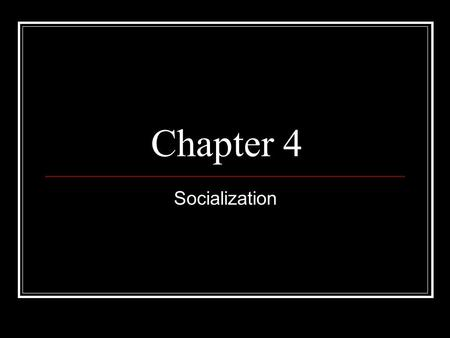 understanding the process and importance of socialization The term socialization is  why is socialization important in the development of  the stage of understanding concepts is, in the process of.