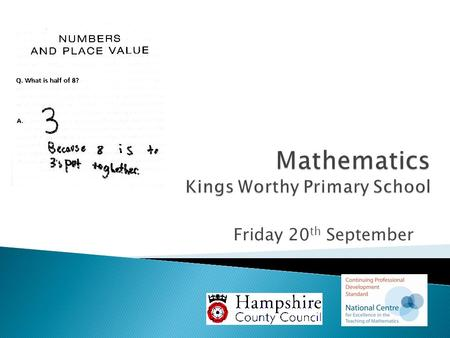 Mathematics Kings Worthy Primary School