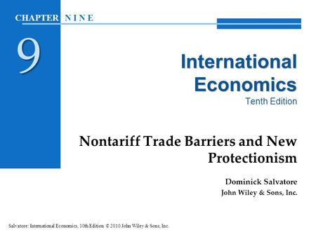 The Basics of Tariffs And Trade Barriers