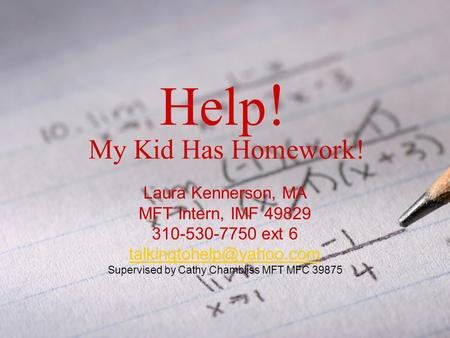 Strategies for helping with homework