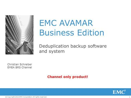 EMC AVAMAR Business Edition
