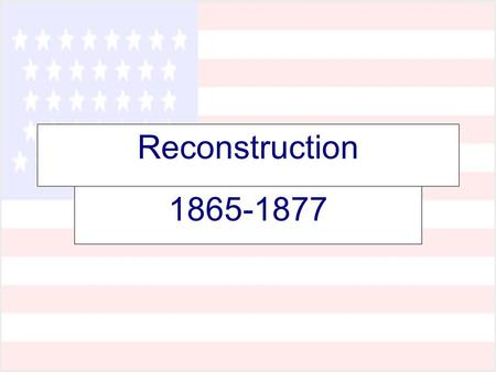 Reconstruction 1865-1877. Key Questions 1. How do we bring the South back into the Union? 2. How do we rebuild the South after its destruction during.
