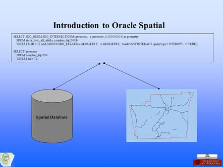 Introduction to Oracle Spatial