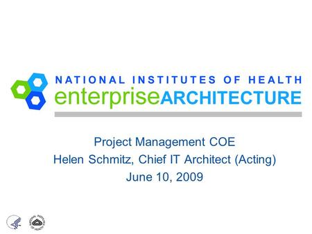 Project Management COE Helen Schmitz, Chief IT Architect (Acting)