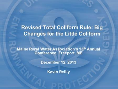 an analysis of water for total coliform bacteria Biological organisms are among the oldest health threats to drinking water  a  group of closely related bacteria, the total coliform, has been selected as an.