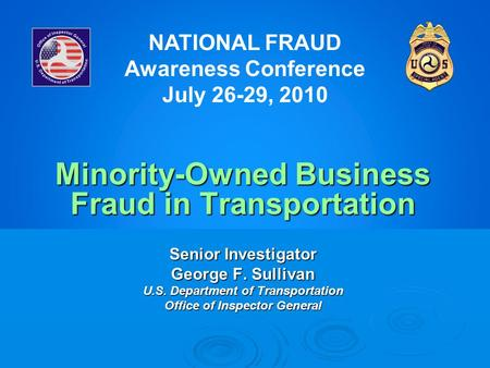 Minority-Owned Business Fraud in Transportation