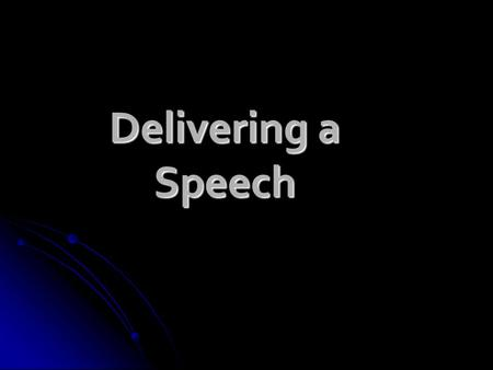 "Delivering a Speech. Stage Fright What is it? What is it? ""nervousness when talking to an audience"" ""nervousness when talking to an audience"" Very common!"