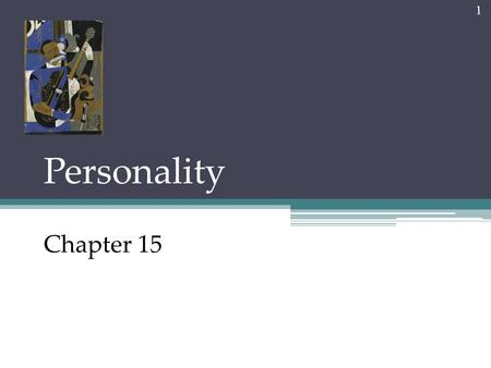 Personality Chapter 15 1. Personality An individual's characteristic pattern of thinking, feeling, and acting. 2 Each dwarf has a distinct personality.